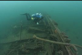 Barge wreck in Deep Cove